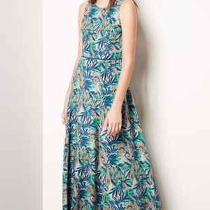 Lafayette 148 New York Estrella Cotton & Silk Maxi